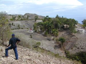 Erosion in the Haitian countryside