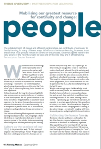 """Mobilising our greatest resource for continuity and change: people"", by Steve Sherwood"