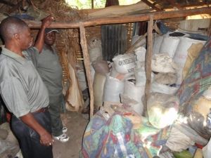 Seed storage in Bailly, Haiti.