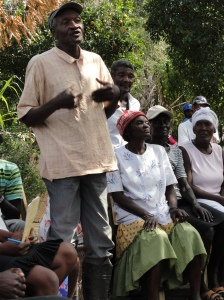 Village meeting in rural Haiti