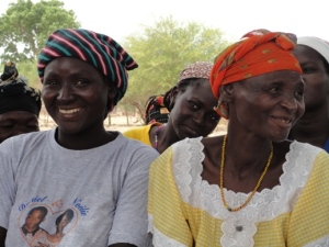 Kombari (smiling on left) and members of the Gayeri women's group